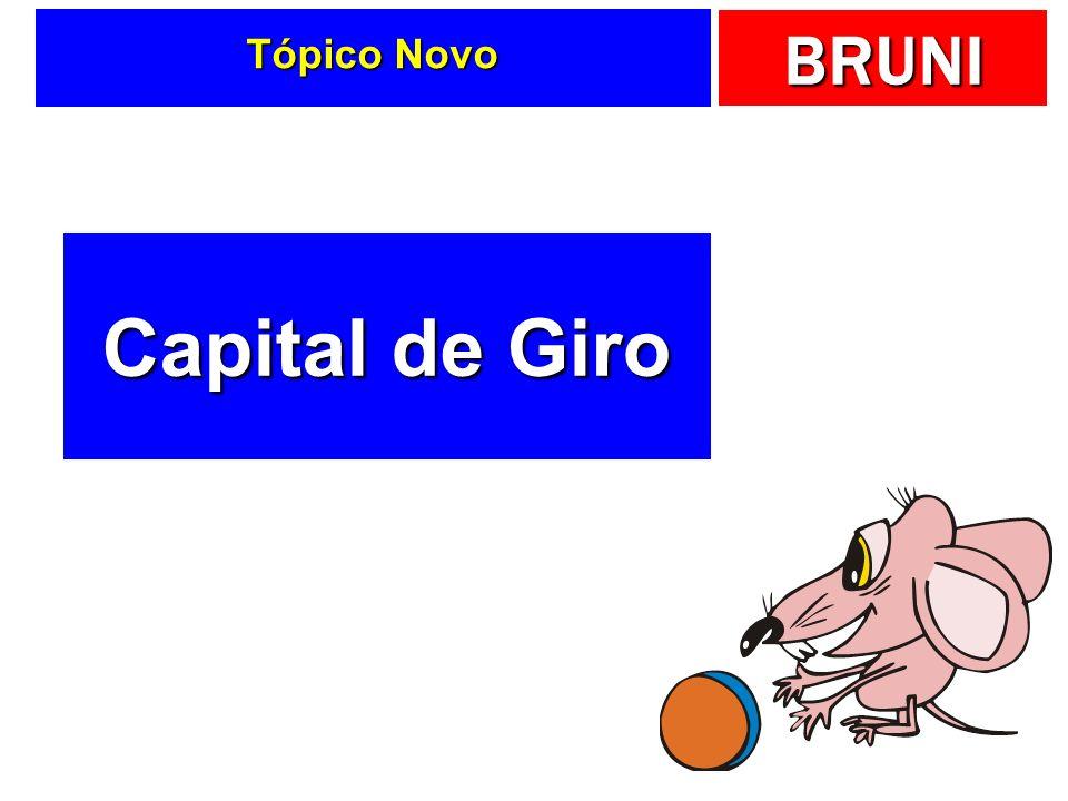 Tópico Novo Capital de Giro
