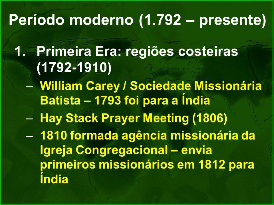 Período moderno (1.792 – presente)
