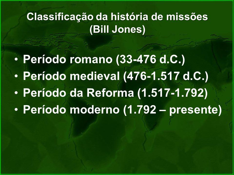 Classificação da história de missões (Bill Jones)