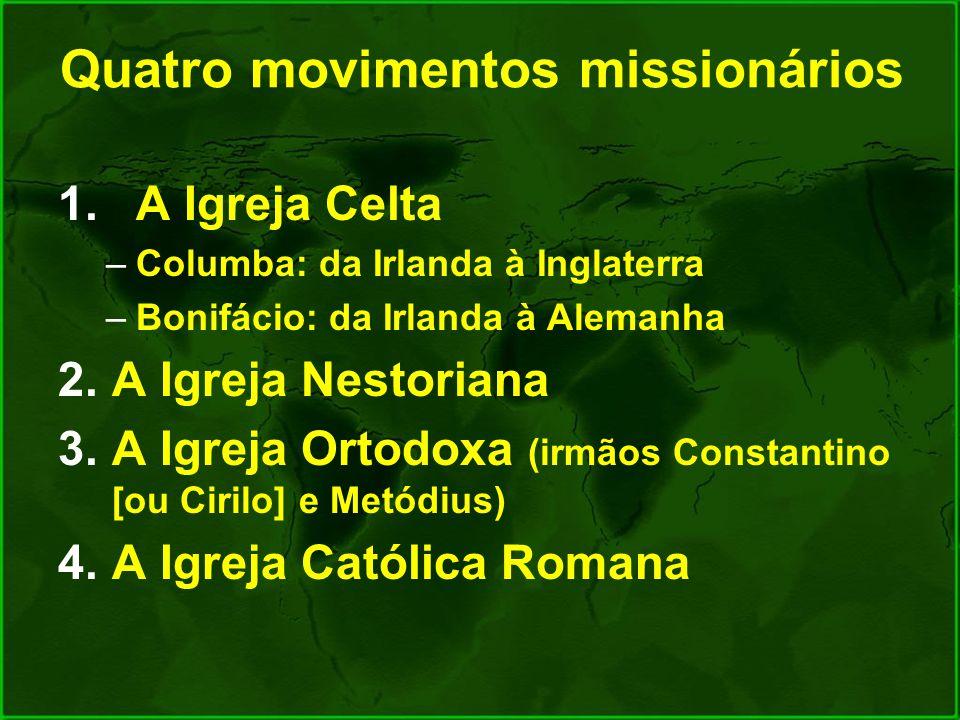 Quatro movimentos missionários