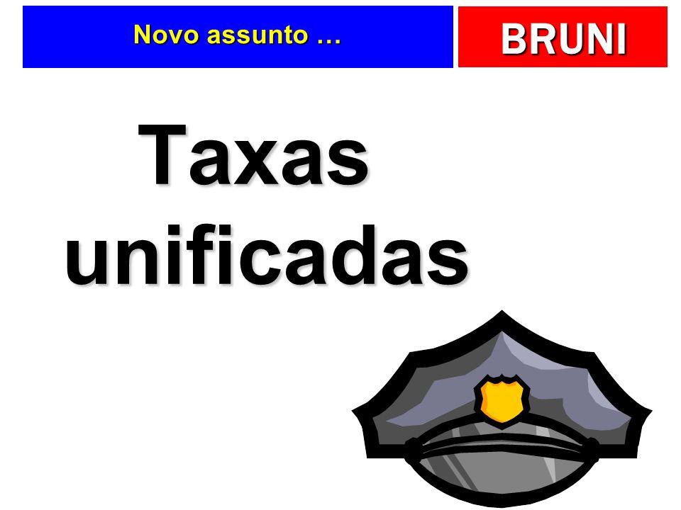 Novo assunto … Taxas unificadas