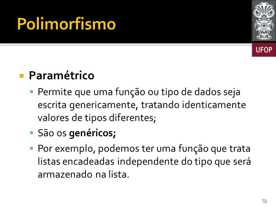Polimorfismo Paramétrico