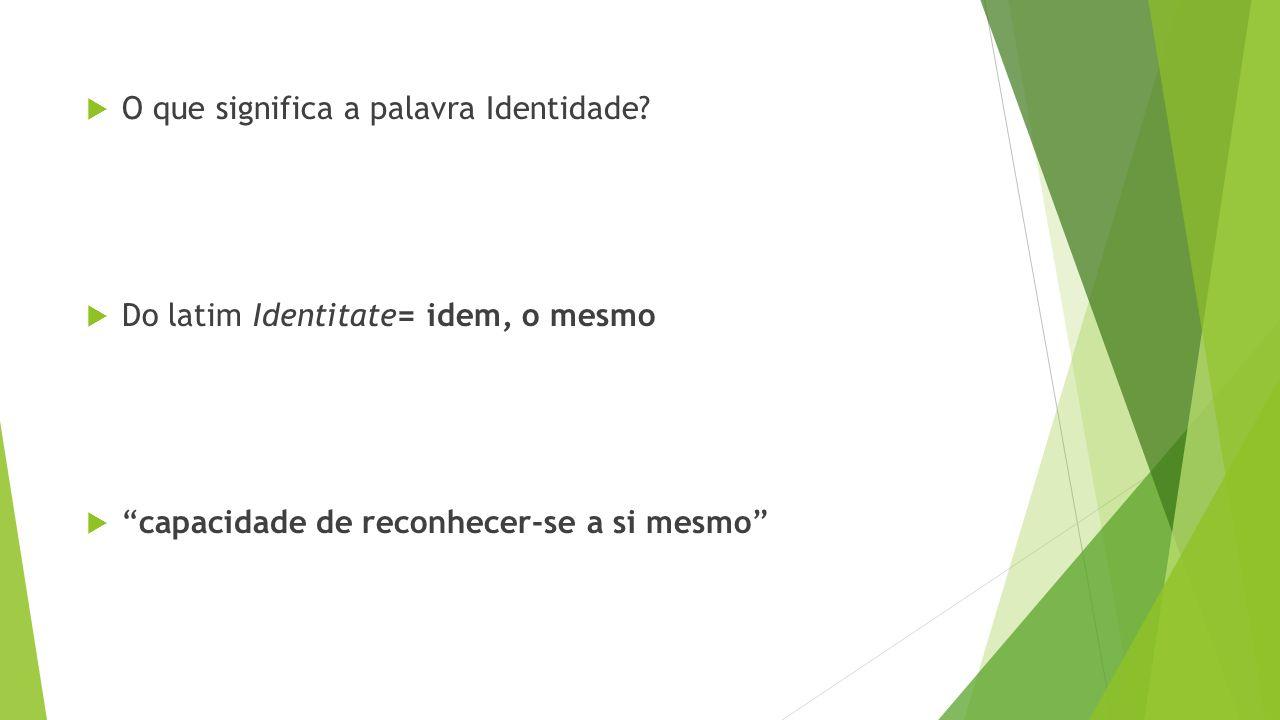 O que significa a palavra Identidade