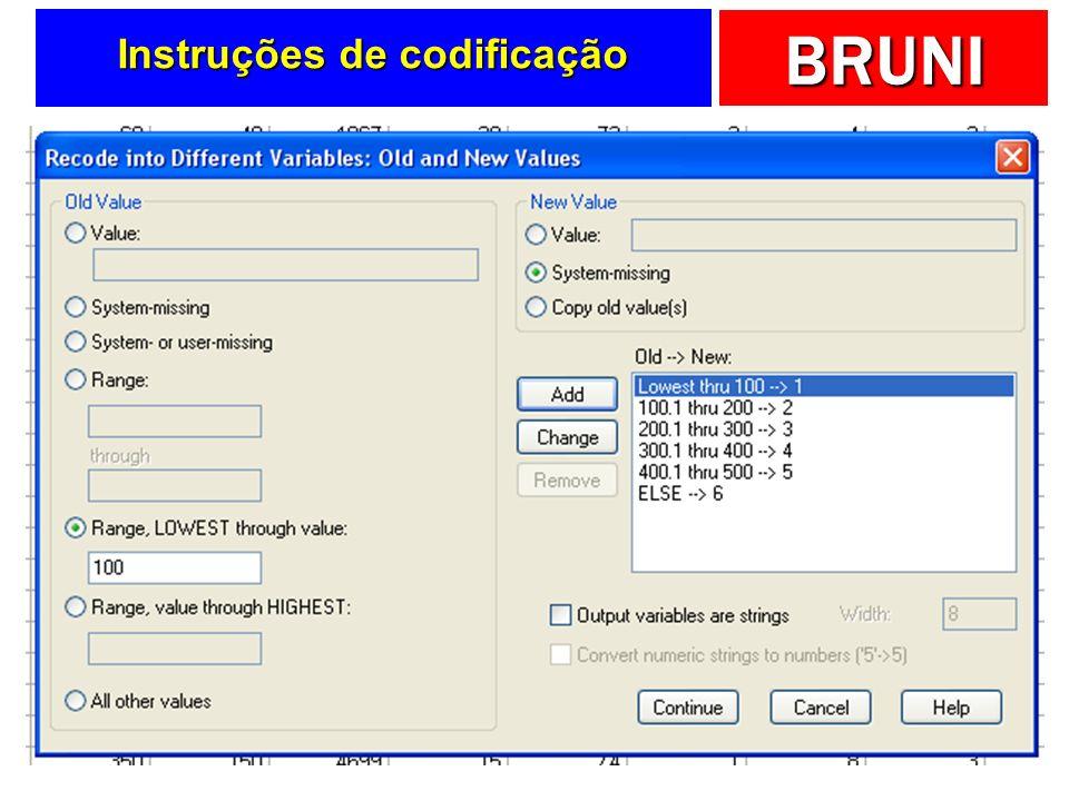 Instruções de codificação