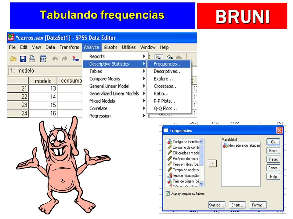 Tabulando frequencias