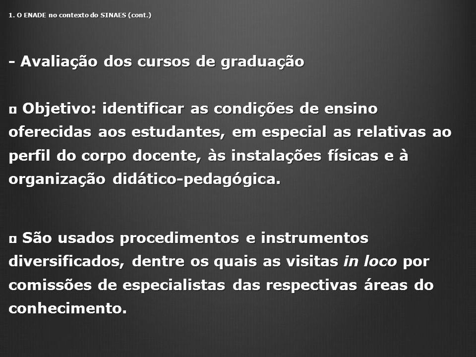 - Avaliação dos cursos de graduação