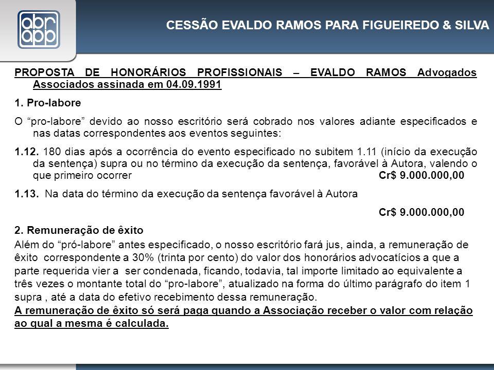 CESSÃO EVALDO RAMOS PARA FIGUEIREDO & SILVA