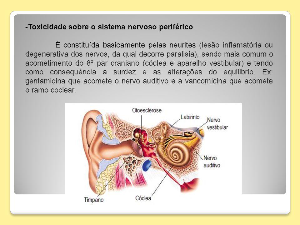 Toxicidade sobre o sistema nervoso periférico
