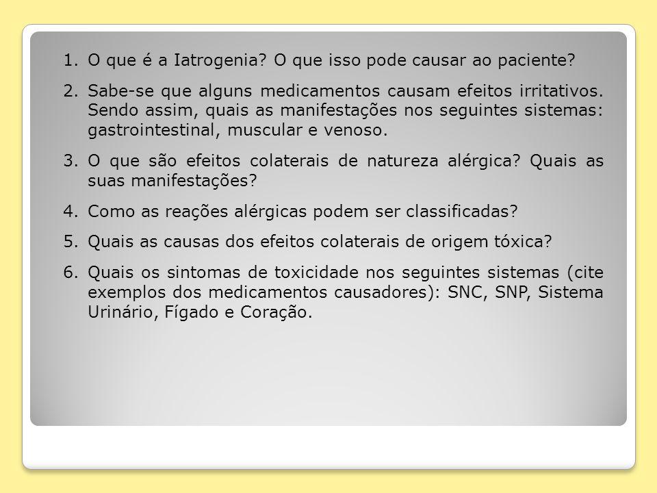 O que é a Iatrogenia O que isso pode causar ao paciente