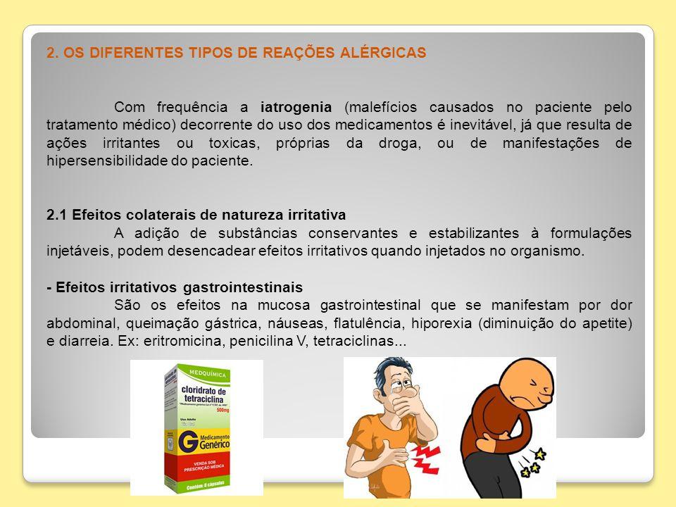 2. OS DIFERENTES TIPOS DE REAÇÕES ALÉRGICAS