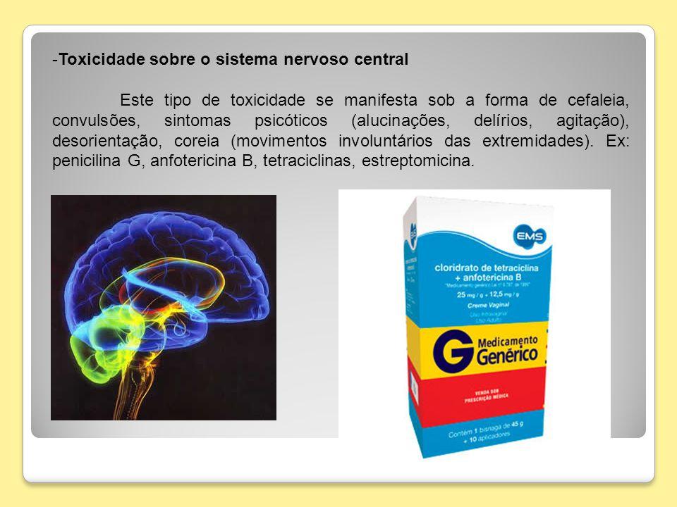 Toxicidade sobre o sistema nervoso central