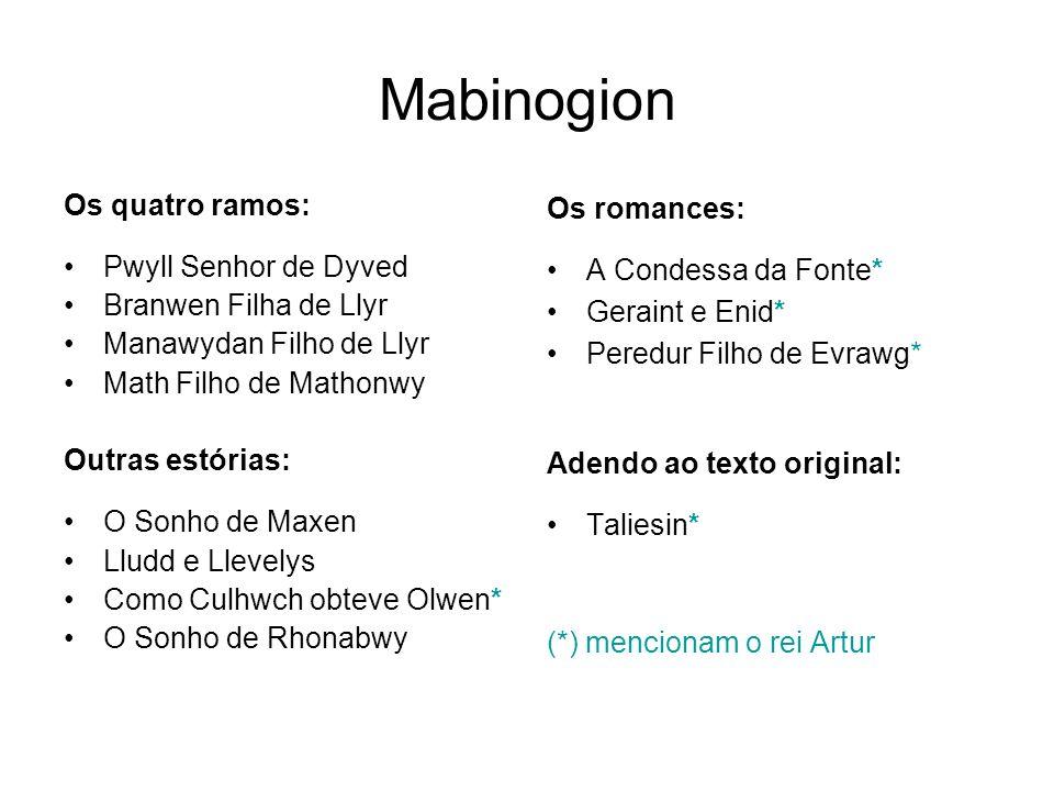 Mabinogion Os quatro ramos: Pwyll Senhor de Dyved