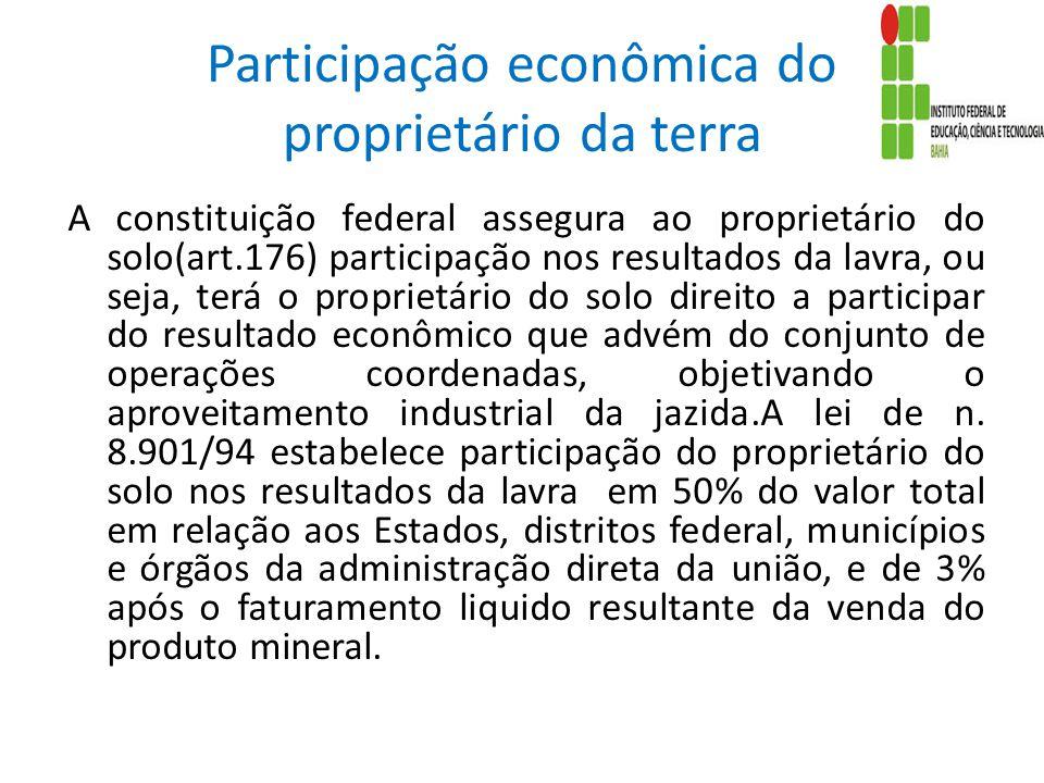 Participação econômica do proprietário da terra