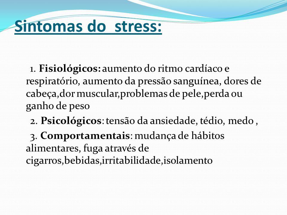 Sintomas do stress: