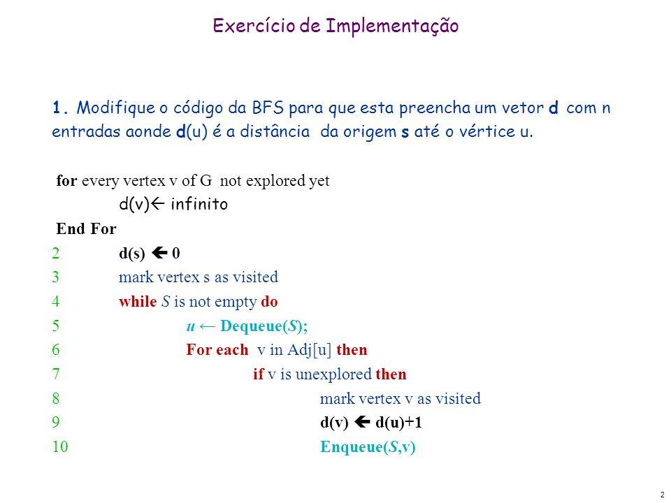 Exercício de Implementação