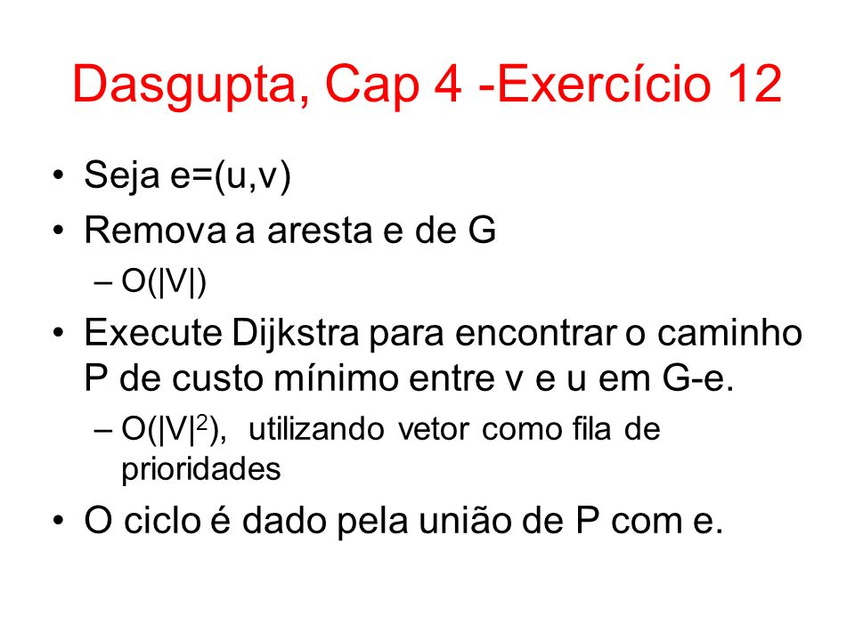 Dasgupta, Cap 4 -Exercício 12