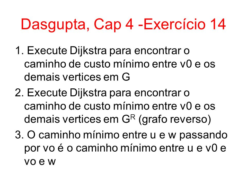 Dasgupta, Cap 4 -Exercício 14