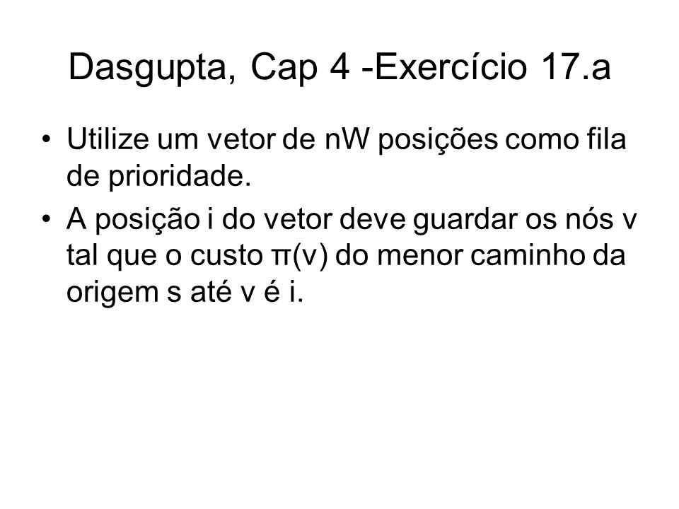Dasgupta, Cap 4 -Exercício 17.a
