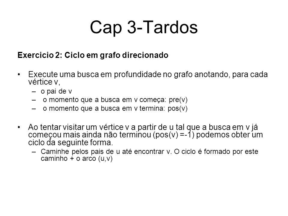 Cap 3-Tardos Exercicio 2: Ciclo em grafo direcionado
