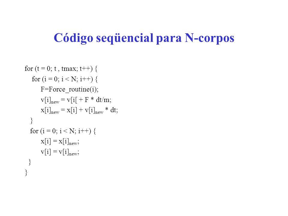Código seqüencial para N-corpos