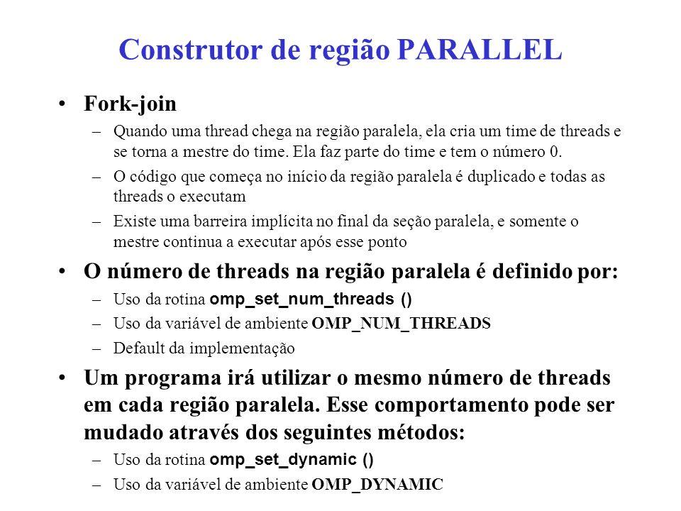 Construtor de região PARALLEL