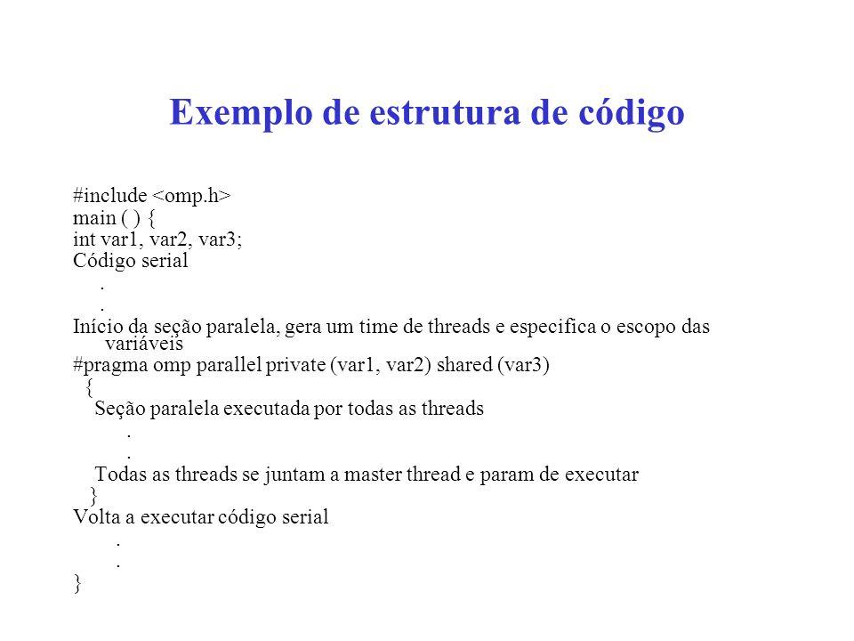 Exemplo de estrutura de código