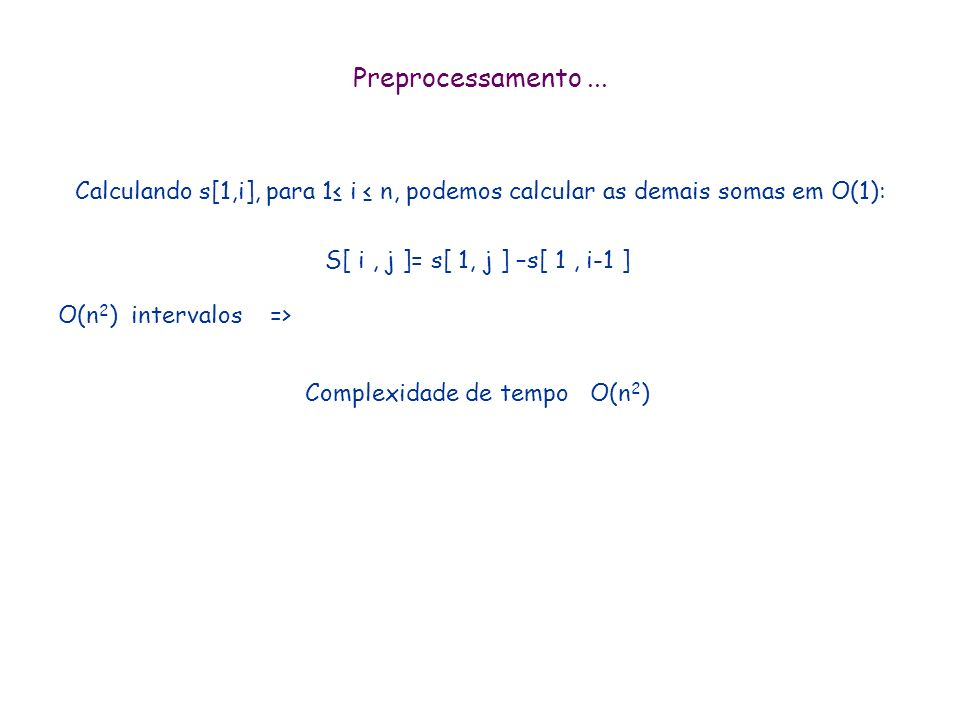 Complexidade de tempo O(n2)