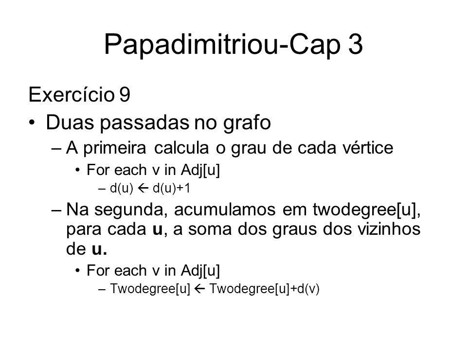 Papadimitriou-Cap 3 Exercício 9 Duas passadas no grafo
