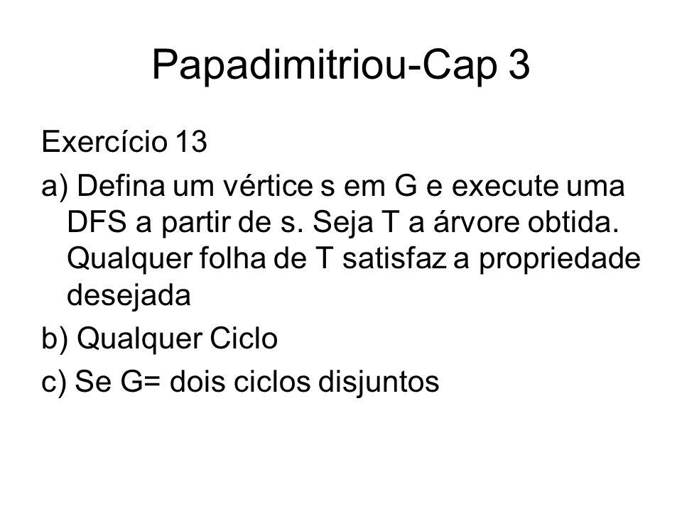 Papadimitriou-Cap 3 Exercício 13