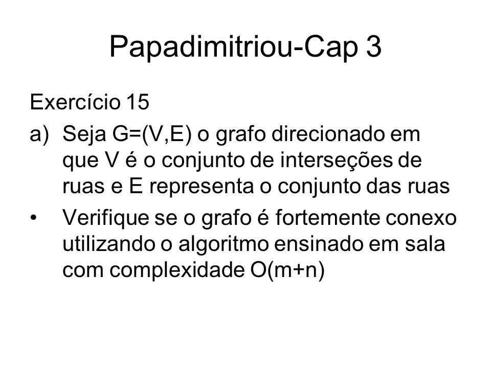 Papadimitriou-Cap 3 Exercício 15