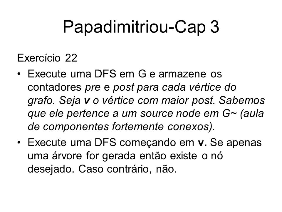 Papadimitriou-Cap 3 Exercício 22