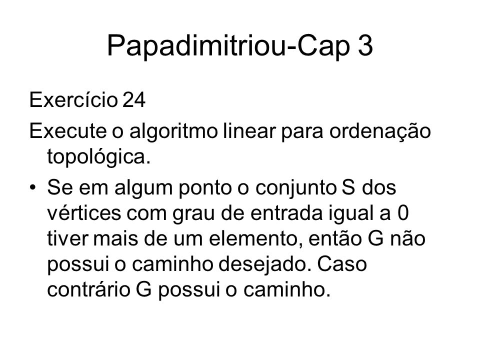 Papadimitriou-Cap 3 Exercício 24