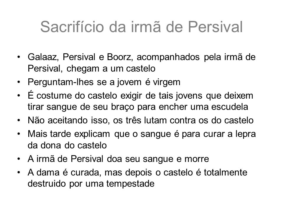 Sacrifício da irmã de Persival
