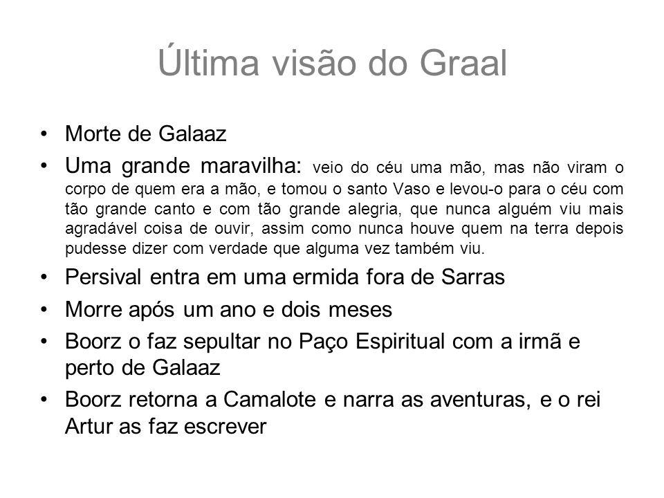 Última visão do Graal Morte de Galaaz