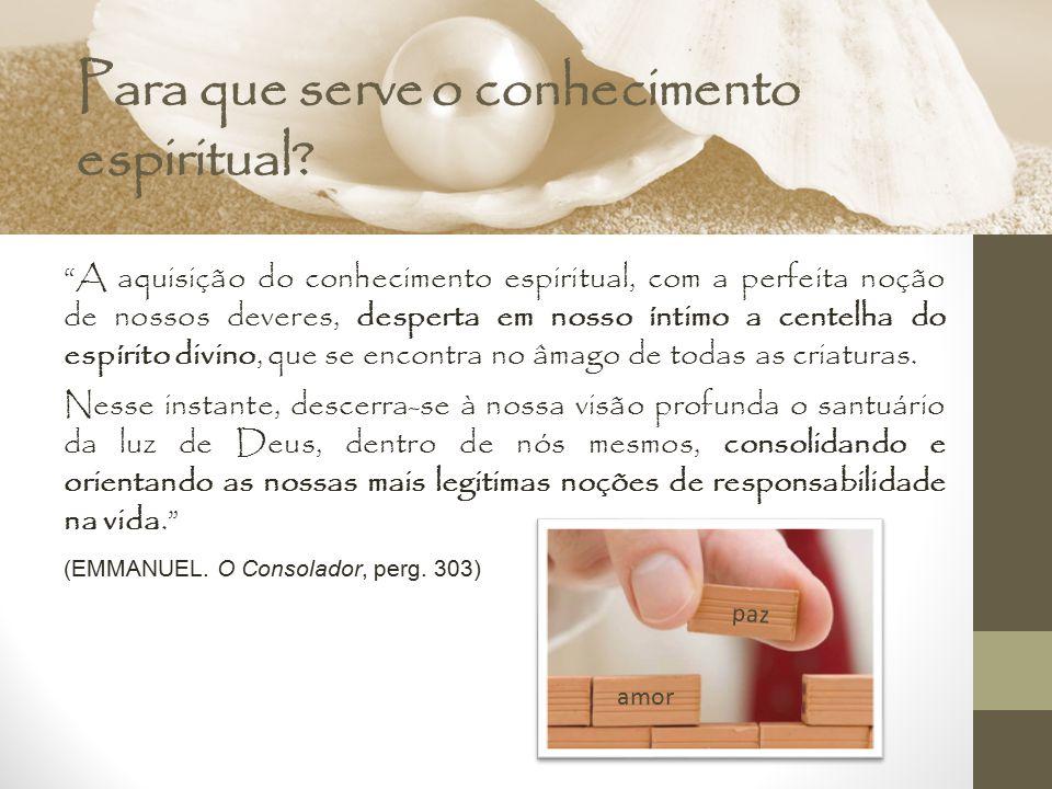 Para que serve o conhecimento espiritual