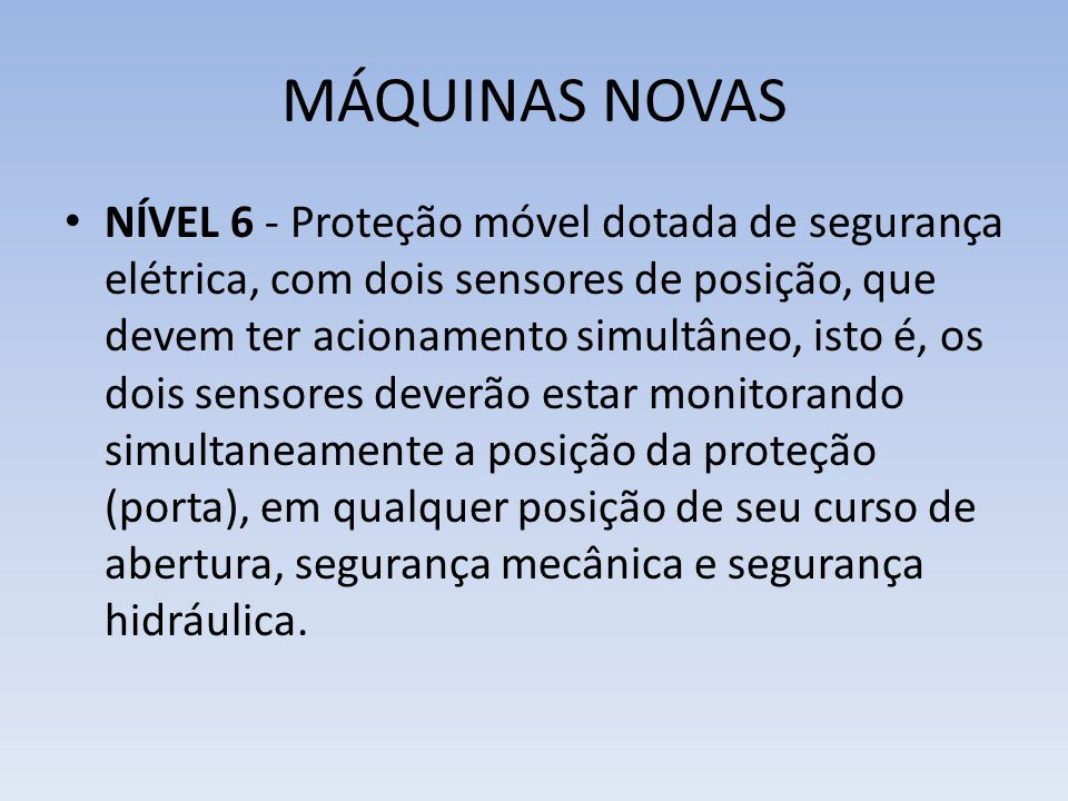 MÁQUINAS NOVAS