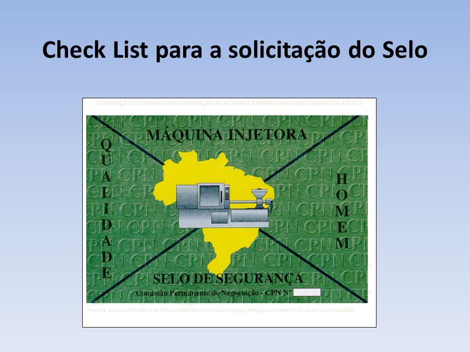 Check List para a solicitação do Selo