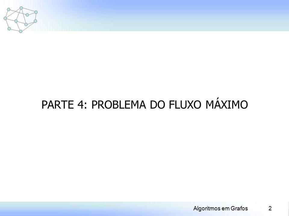 PARTE 4: PROBLEMA DO FLUXO MÁXIMO