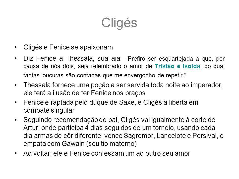 Cligés Cligés e Fenice se apaixonam