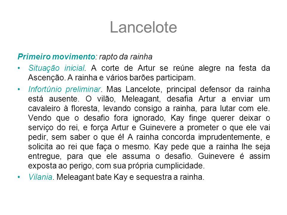 Lancelote Primeiro movimento: rapto da rainha