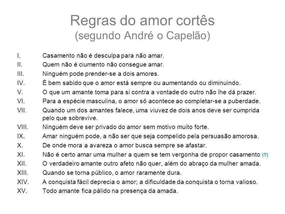 Regras do amor cortês (segundo André o Capelão)