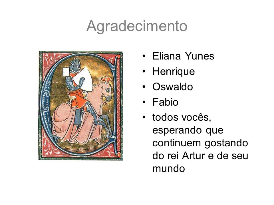 Agradecimento Eliana Yunes Henrique Oswaldo Fabio