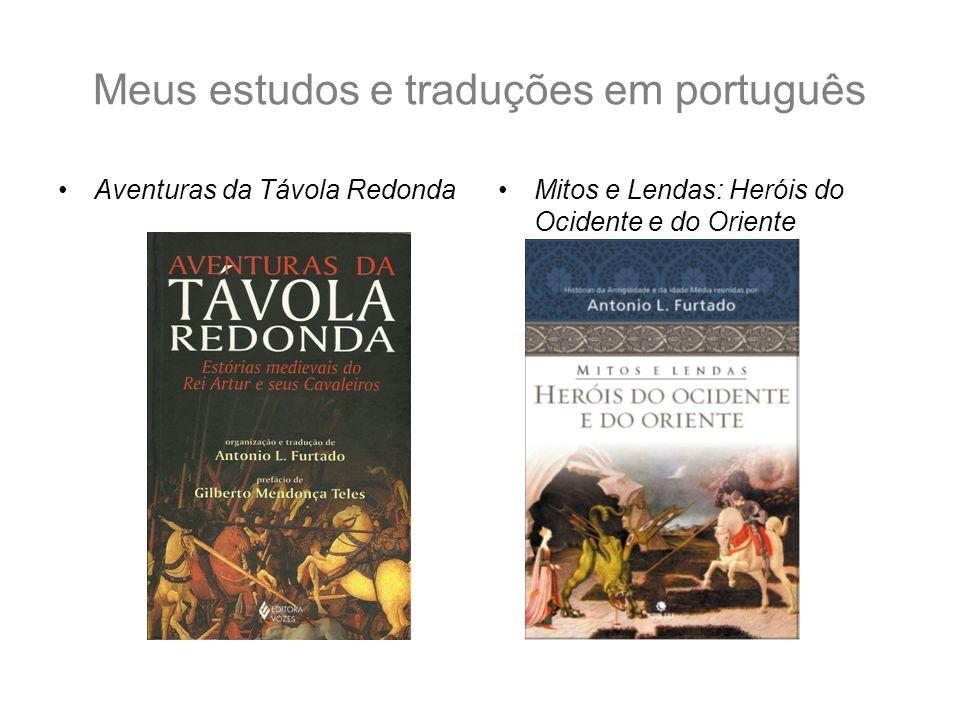 Meus estudos e traduções em português