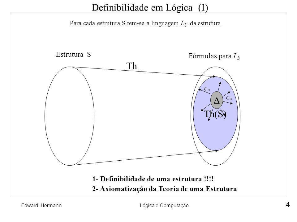 Definibilidade em Lógica (I)
