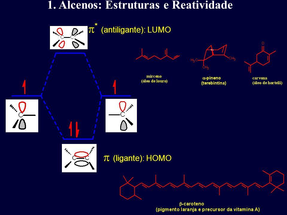 1. Alcenos: Estruturas e Reatividade