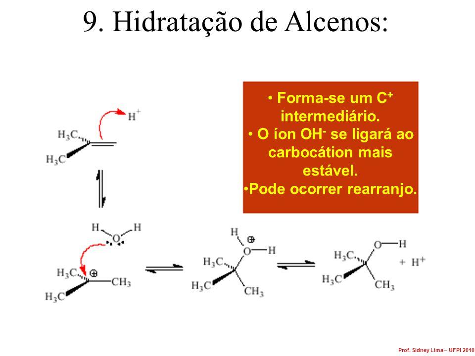 9. Hidratação de Alcenos: