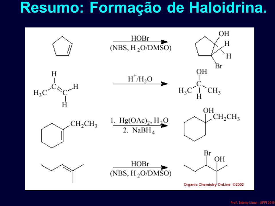 Resumo: Formação de Haloidrina.