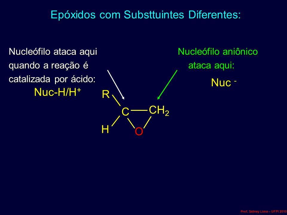 Epóxidos com Substtuintes Diferentes: