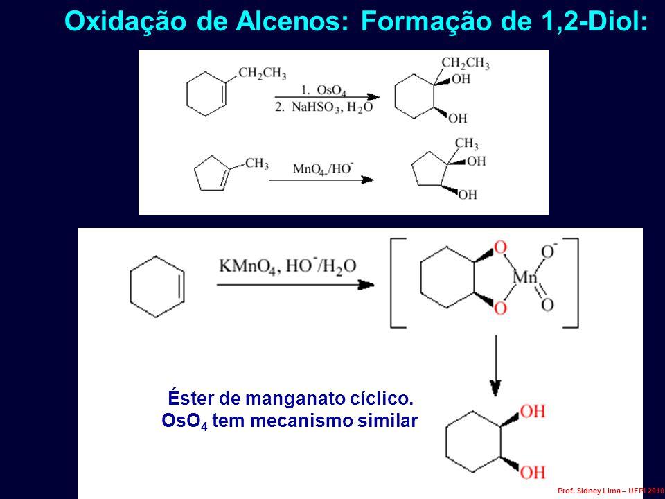 Éster de manganato cíclico. OsO4 tem mecanismo similar
