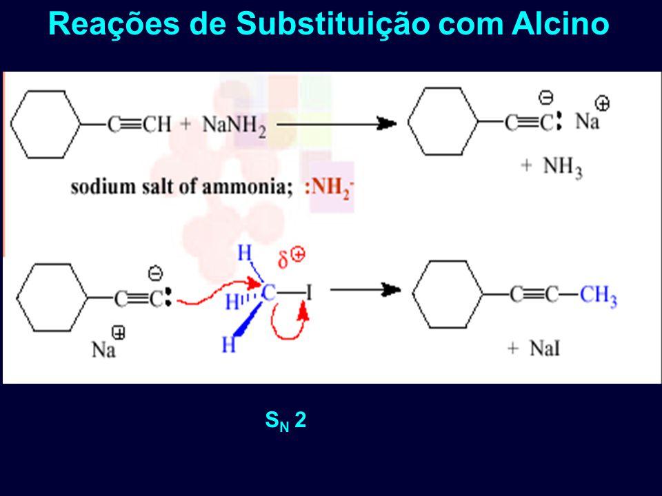 Reações de Substituição com Alcino